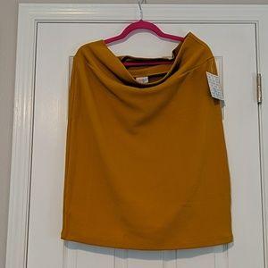 NWT Lularoe Cassie Pencil Skirt Mustard Sz 2XL